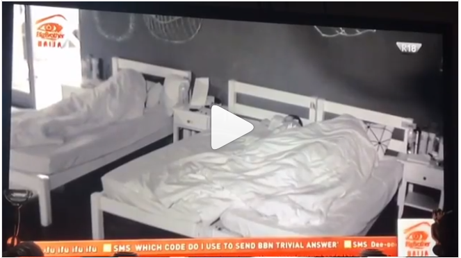 Video Of Miracle Putting On Condom Surfaced, While Nina Asleep In BBNaija House