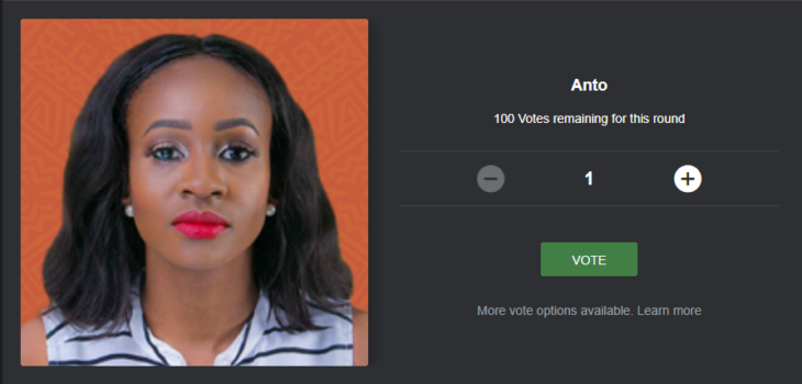 How to Vote and Save Anto from Eviction on Mobile, Desktop Site and using SMS Code