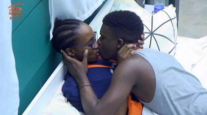 BB NAIJA Housemates, Anto and Lolu Kissed Passionately After Settling