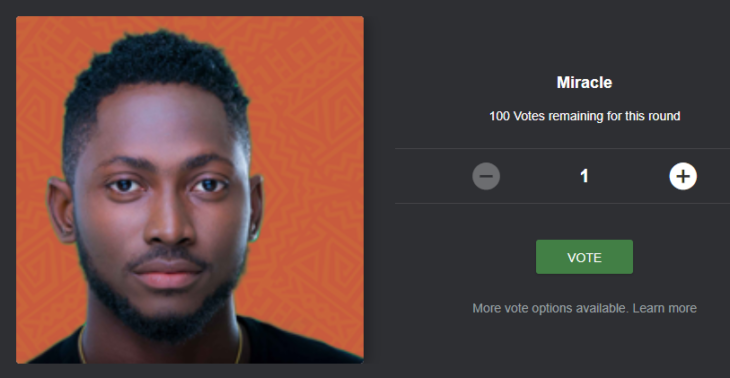 How to Vote and Save Miracle from Eviction on Mobile, Desktop Site and using SMS Code
