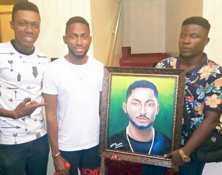 Miracle BB Naija Latest News: Miracle Receives Painted Art Work from a Fan