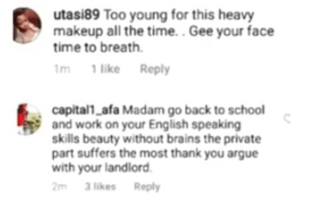 """Beauty without Brain is Nothing, Madam go back to School""- Fans slams Nina after she shared video of herself talking"