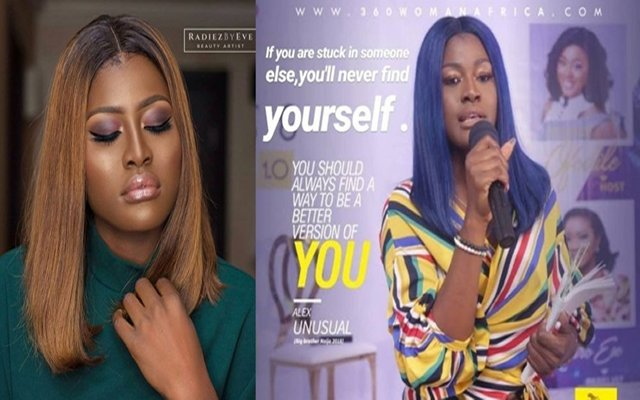 """Former BBNaija Housemate, Alex send Positive Messages to every Young Nigerian. 2018 big brother naija former housemate, Alex had sent a positive vibes to every young dreamer. On one occasion Alex advised young people as she said the following; """"Pursue their dreams, aspirations and make them a reality"""". Well in this she wanted young women to be brave and become worries as the saying that women are worries."""