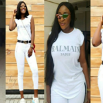 Alex BBNaija Battle with Ini Edo for N83k Balmain white Tshirt (PHOTOS)