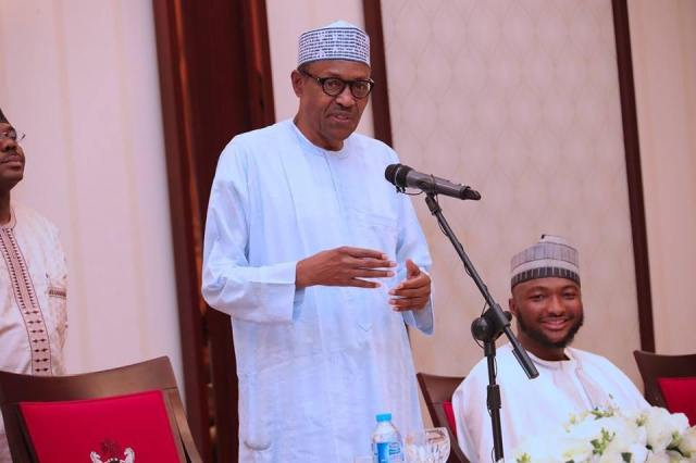 Tobi BBNaija shares photos with President Buhari (PHOTOS)