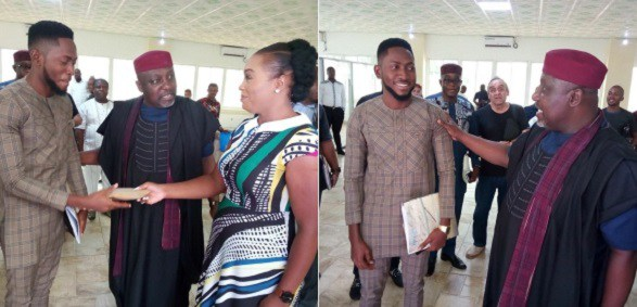 Miracle BBNaija recieves $25,000 from Governor Rochas Okorocha