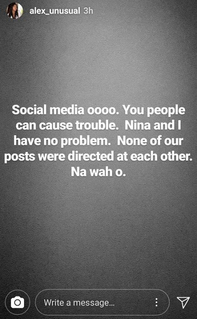 BBNaija Housemates, Nina and Alex debunk rumoured beef, say quarreling has no place in their friendship