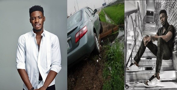 Soma BBNaija survives car accident (VIDEO)