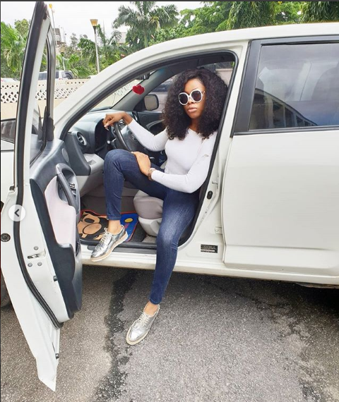 """Wearing my favourite jean"", Princess BBNaija tags as she drops new photos (PHOTO)"
