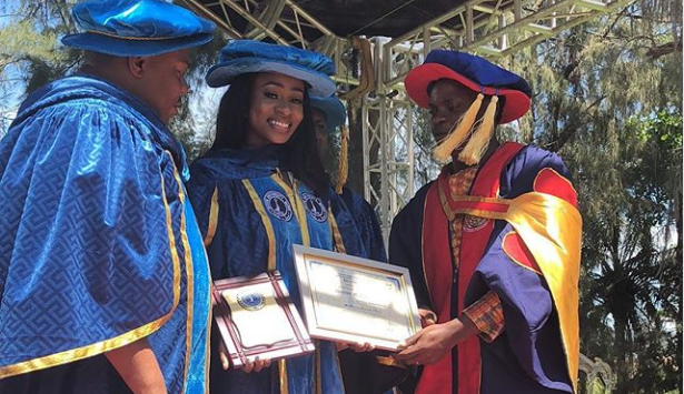 Anto BBNaija Bang Doctorate Degree (PhD) in ISCON University of Cotonu, Benin Republic