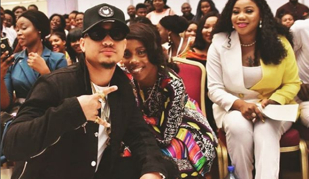 Rico Swavey drops Photo with Tiwa Savage at Lagos Fashion Show
