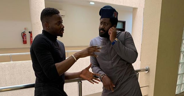 BBNaija Leo Da Silva, Captured with Desmond Elliot in Lagos State House of Assembly
