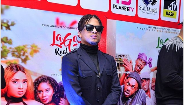 Rico Swavey rocks the Red Carpet at the 'Lagos Real Fake Life' movie premiere (PHOTO)