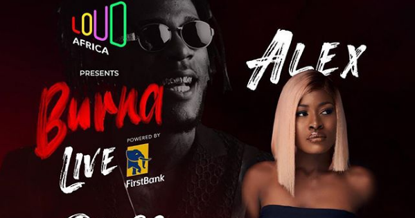 Alex BBNaija Host Red Carpet in Burna Live Concert Presented by Loud Africa (DETAILS)