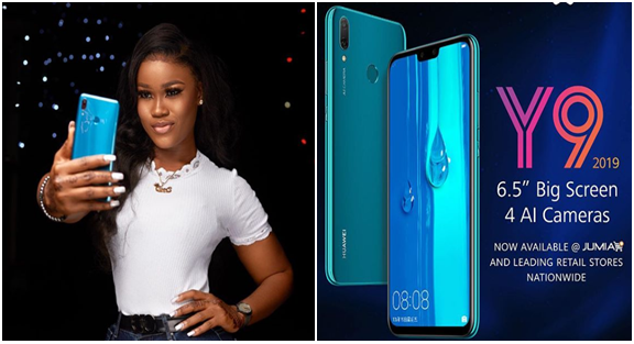 Cee C BBNaija Got 2019 Huawei Y9 as Christmas Gift from Huawei Mobile (PHOTO)