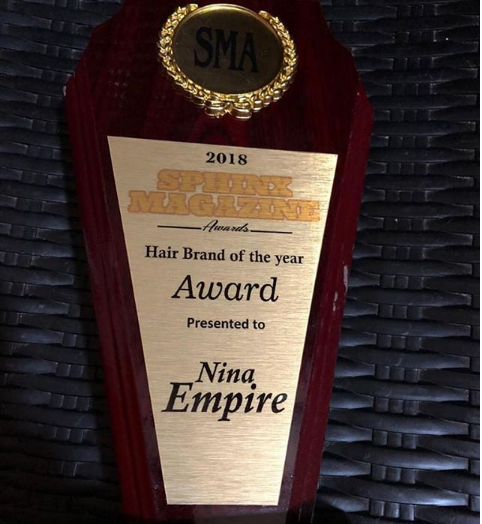Nina Empire Won Hair Brand of the Year with Sphinx Magazine Award 2018 (DETAILS)