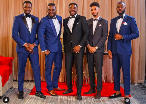 BBNaija 2019 Reunion: Best 2018 BBNaija Male Housemates Reunion Photo with Ebuka