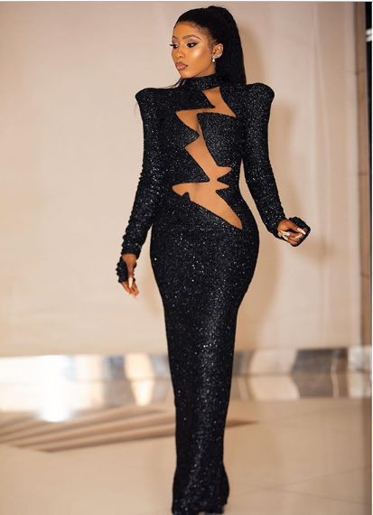 Pictures of Mercy at Headies Award 2019