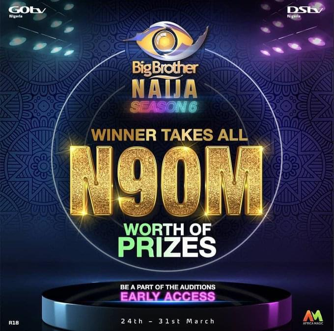 BBNaija Season 6 2021 Audtion for GOtv, DStv Users, Requirements, Date, Qualification